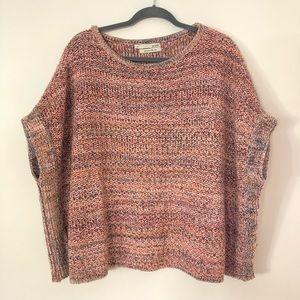 Acoté oversized poncho sweater